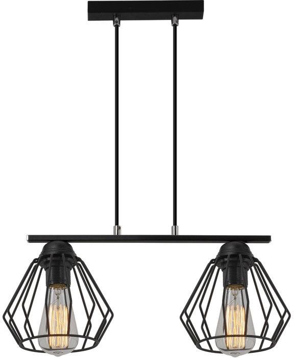Czarna podwójna lampa wisząca loft - EXX93-Dema