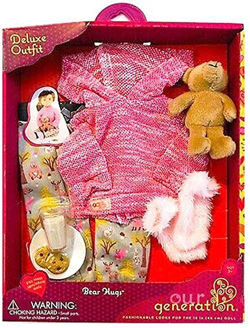 Our Generation BD30327 piżama z niedźwiedziem przytulankami, różne
