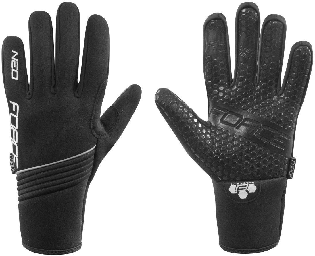 FORCE 90465 NEO zimowe rękawiczki,czarne Rozmiar: M,force-90465-gloves-black