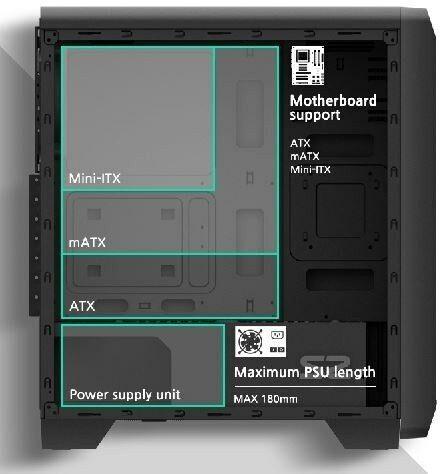 Zalman Obudowa S2 TG ATX Mid Tower PC Case TG fan x3