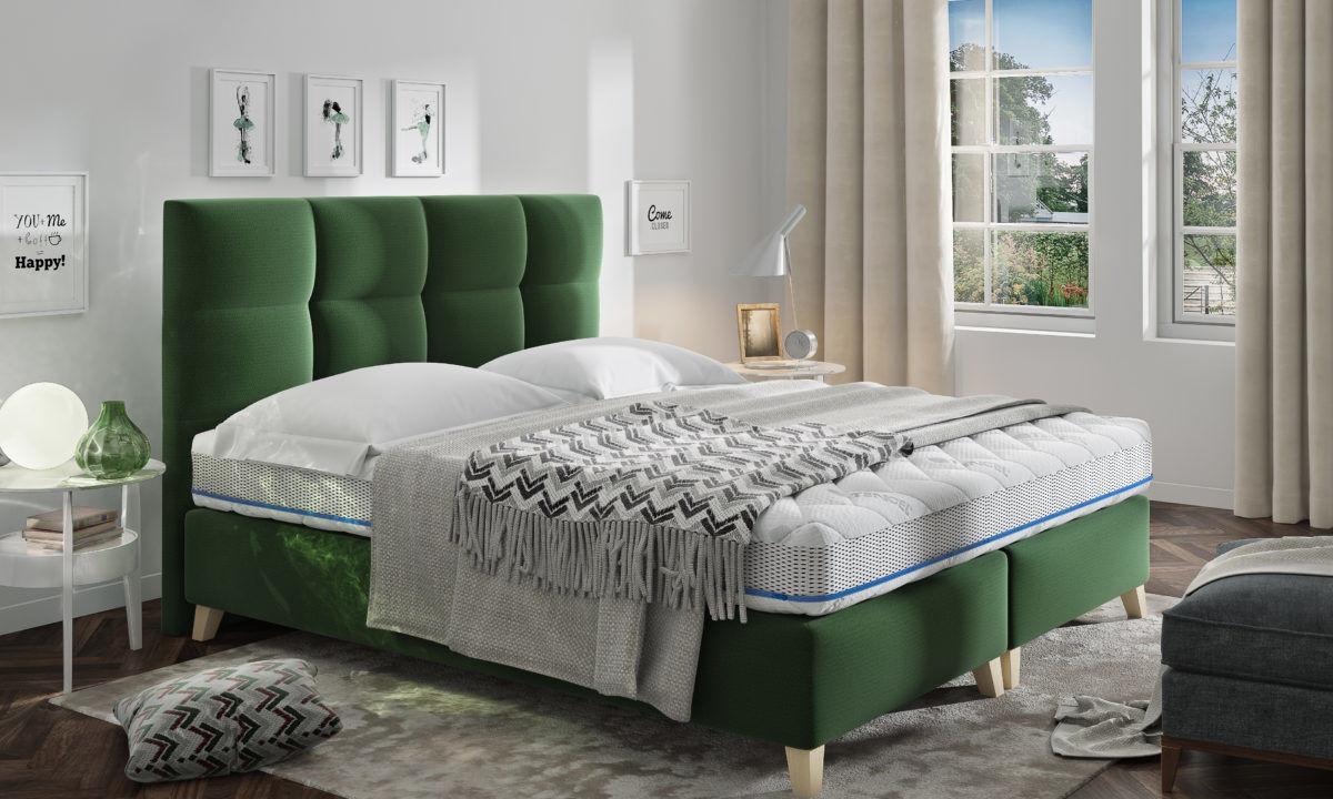 Łóżko tapicerowane MONA 140x200 z pojemnikiem i stelażem - tapicerka do wyboru!