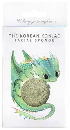 Konjac Sponge Gąbka z zieloną glinką i haczykiem do zawieszenia Mityczny Smok