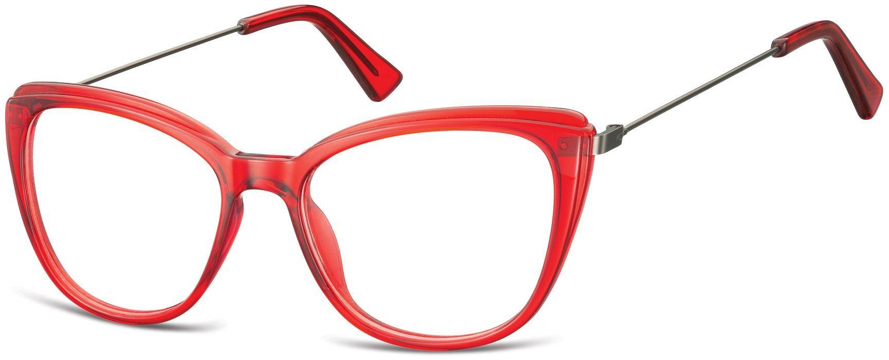 Oprawki korekcyjne okulary Kocie Oczy zerówki damskie CP121F czerwone