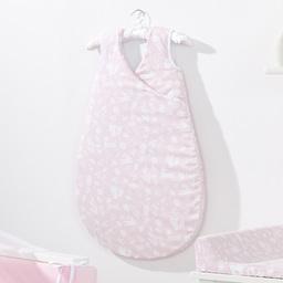MAMO-TATO Śpiworek niemowlęcy do spania Bubble Las pastelowy róż