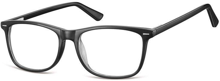 Okulary Zerówki klasyczne oprawy Sunoptic CP153 czarne, flex