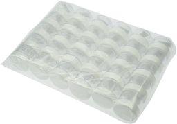 Fantasia Puszka kosmetyczna z tworzywa sztucznego, biała pokrywka do 25 ml, 1 opakowanie (1 x 30 sztuk)