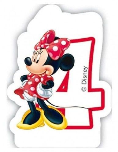 Świeczka cyferka Myszka Minnie Mouse - 4