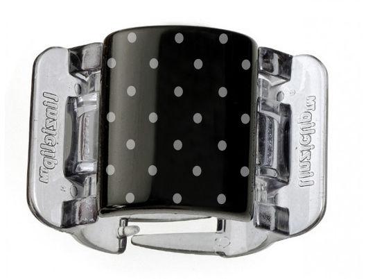 Linziclip Klamra do włosów Midi Black-White Dots 1 szt.