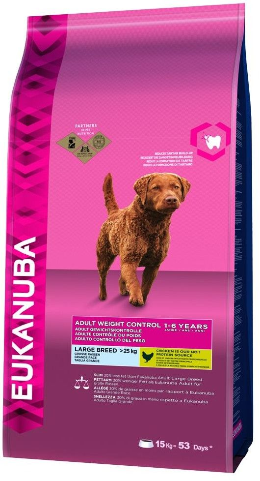 EUKANUBA Adult Weight Control Large Breed 2x15kg