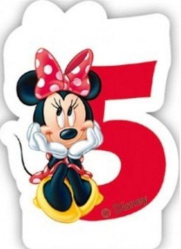 Świeczka cyferka Myszka Minnie Mouse - 5