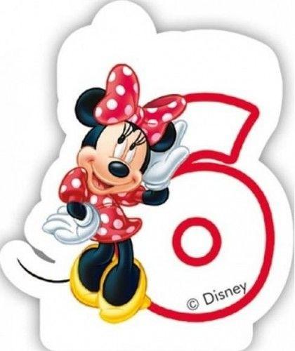 Świeczka cyferka Myszka Minnie Mouse - 6