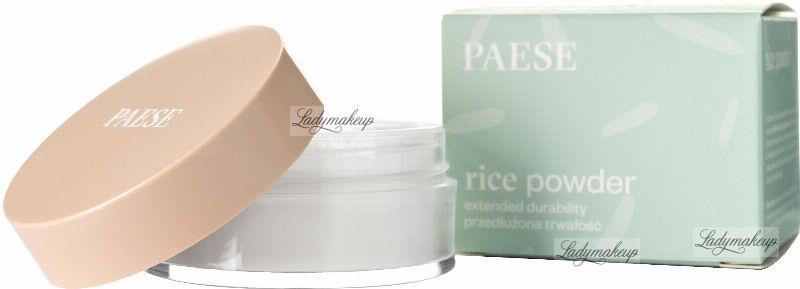 PAESE - RICE POWDER EXTENDED DURABILITY - Sypki puder ryżowy o przedłużonej trwałości do cery mieszanej, tłustej i normalnej - 10 g