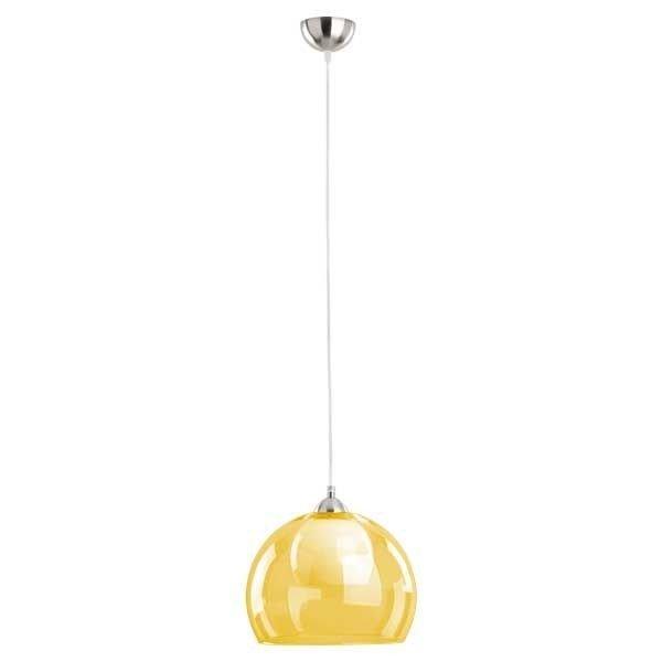Lampa wisząca zwis żółta szklana kula MISSI śr. 30cm - żółty
