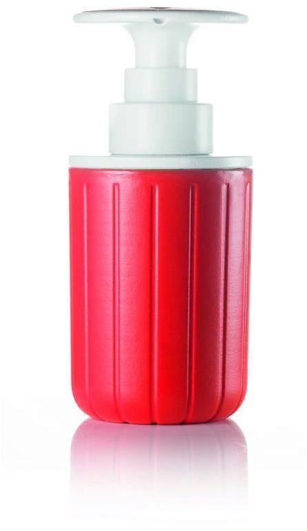 Guzzini - tidy & clean - dozownik do mydła i płynu, czerwony - czerwony
