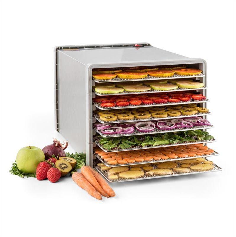 Klarstein Fruit Jerky Steel 8 automat do suszenia dehydrator 630W 8 poziomów stal