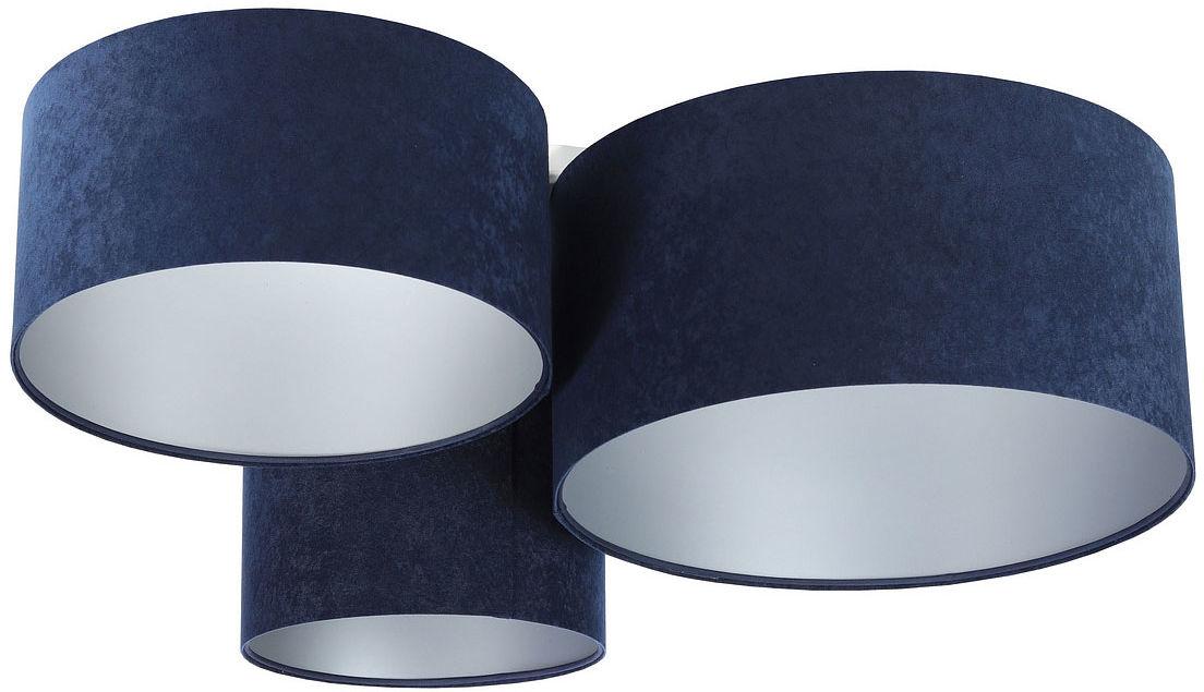 Granatowo-srebrny welurowy plafon - EXX49-Galis