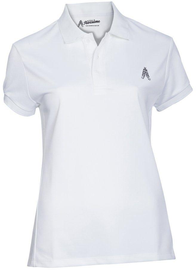 Royal & Awesome Damska koszulka polo Womens Polo biały biały XXL