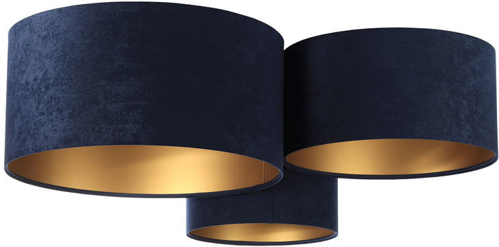 Granatowo-złoty plafon w stylu glamour - EXX49-Galis