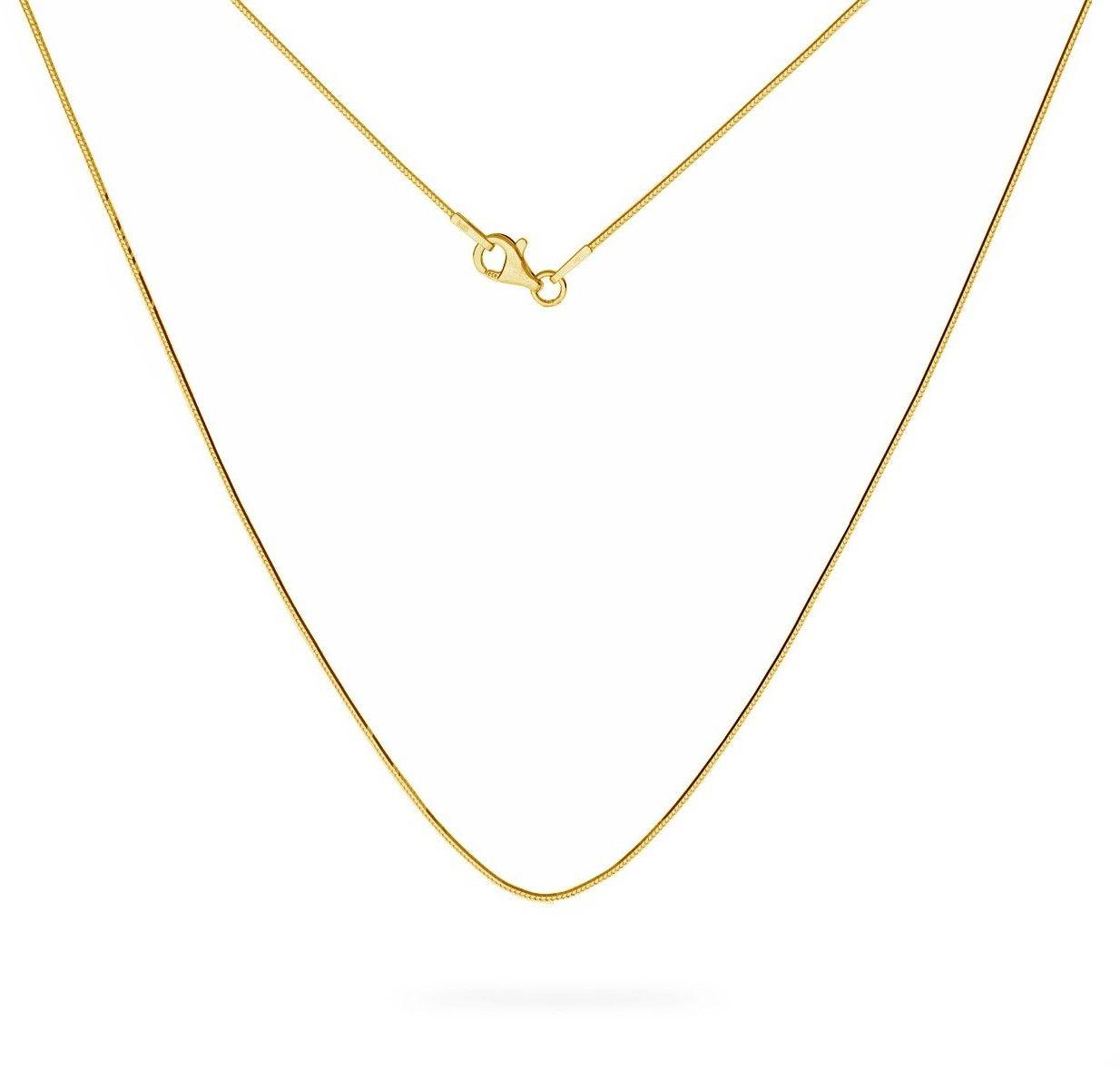 Srebrny łańcuszek linka diamentowana, srebro 925 : Długość (cm) - 45, Srebro - kolor pokrycia - Pokrycie żółtym 18K złotem