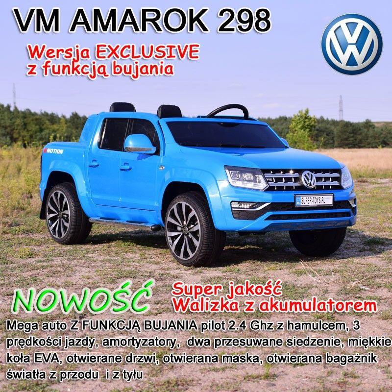 AUTO VW AMAROK, MIĘKKIE KOŁA, MIĘKKIE SIEDZENIE, WOLNY START, FUNKCJA BUJANIA/DMD298