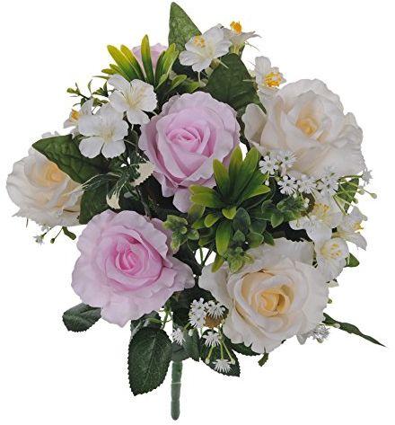 Białe dino, bukiet róża/hortensja 12 sztuk, tworzywo sztuczne, fioletowy (CR/Lavander 239), 25 x 25 x 47,5 cm