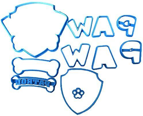 cuticuter Paw Patrol krajalnica do masy cukrowej, niebieska, 8 x 7 x 1,5 cm