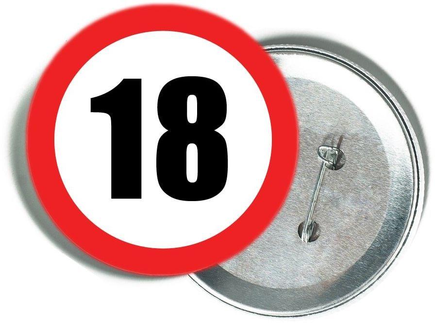Przypinka Znak Zakazu 18 - 1 szt.