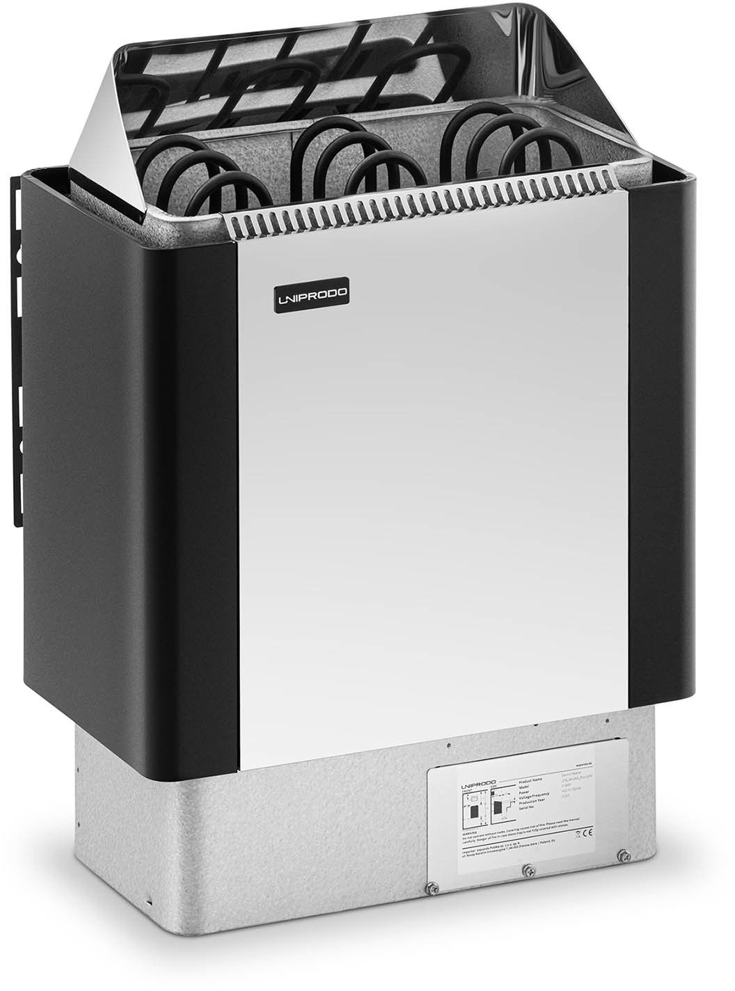 Piec do sauny - elektryczny - 4,5 kW - Uniprodo - UNI_SAUNA_BS4.5KW - 3 lata gwarancji/wysyłka w 24h