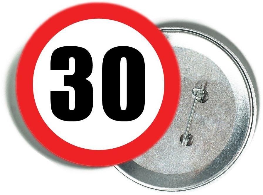 Przypinka Znak Zakazu 30 - 1 szt.
