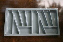Wkład szuflady 430x90 aluminium ( 83cm x 43cm x 5cm)