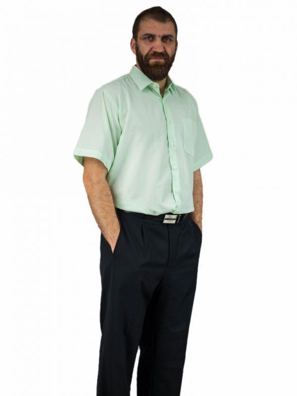Elegancka koszula męska żółta MIĘTOWA seledynowa