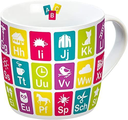 infinite by GEDA LABELS (INFKH) 12441 tabela przystawna kompletna filiżanka, porcelanowa filiżanka, filiżanka do kawy, filiżanka dziecięca, wielokolorowa