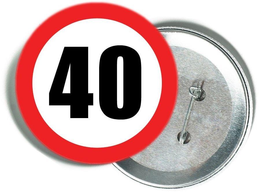 Przypinka Znak Zakazu 40 - 1 szt.