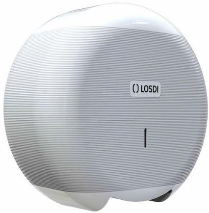 Dozownik papieru toaletowego ABS ECO-LUXE Biały Losdi Pojemnik na papier, Podajnik do papieru, Dozownik na papier