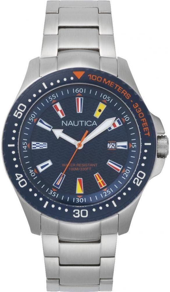 Zegarek Nautica NAPJBC004 Jones Beach Stainless Steel Watch - CENA DO NEGOCJACJI - DOSTAWA DHL GRATIS, KUPUJ BEZ RYZYKA - 100 dni na zwrot, możliwość wygrawerowania dowolnego tekstu.