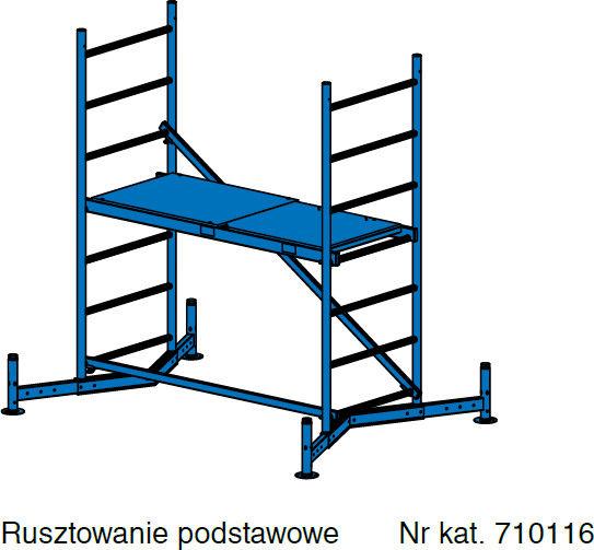 KRAUSE ClimTec rusztowanie aluminiowe wys. rob. 3,00 m *** Negocjuj cenę ***