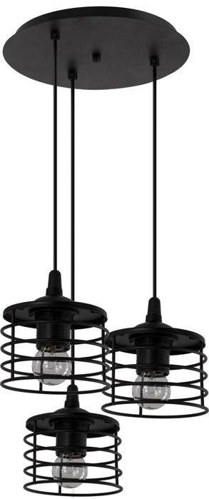 Czarna potrójna lampa wisząca druciana - EXX100-Rizana