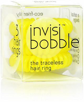 Invisi Bobble Submarine Yellow Żółte gumki do włosów 3 szt.