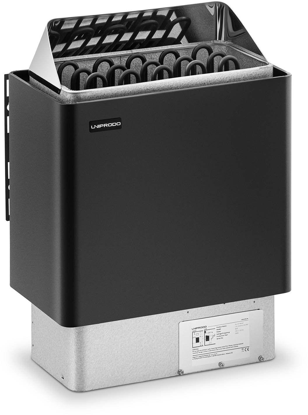 Piec do sauny - elektryczny - 8 kW - Uniprodo - UNI_SAUNA_G8.0KW - 3 lata gwarancji/wysyłka w 24h