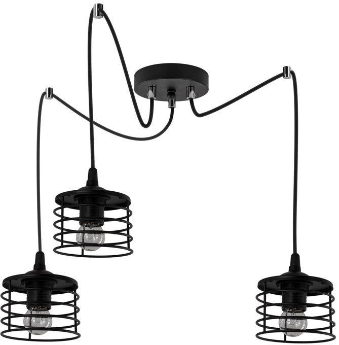 Czarna loftowa lampa wisząca pająk - EXX101-Rizana