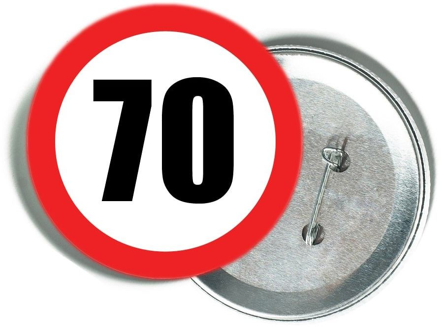 Przypinka Znak Zakazu 70 - 1 szt.