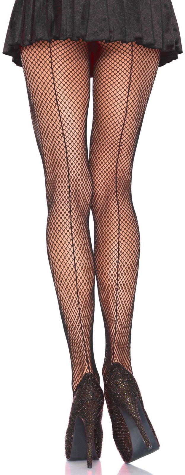 Leg Avenue Backseam Fishnet Pantyhose 9015 Black
