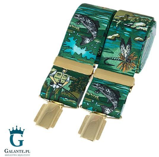 Zielone szelki do spodni wędkarz br-024