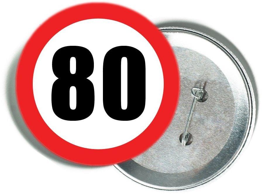 Przypinka Znak Zakazu 80 - 1 szt.