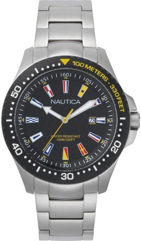 Zegarek Nautica NAPJBC005 Jones Beach Stainless Steel Watch - CENA DO NEGOCJACJI - DOSTAWA DHL GRATIS, KUPUJ BEZ RYZYKA - 100 dni na zwrot, możliwość wygrawerowania dowolnego tekstu.