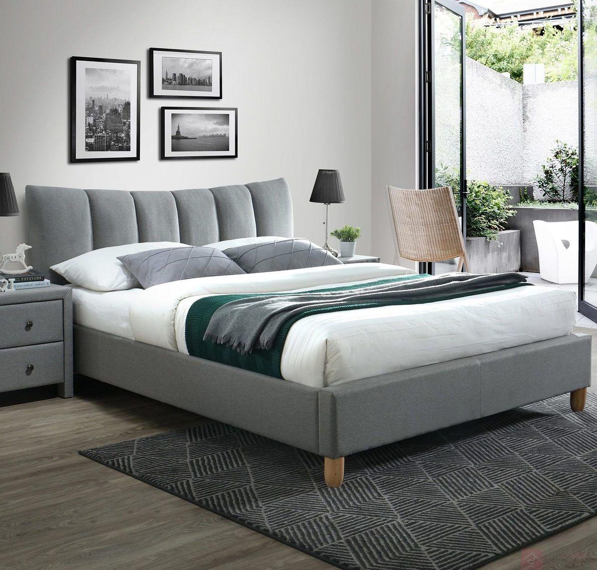 KUPON 10% NA STRONIE  Łóżko tapicerowane SANDY 2 Halmar 160x200 cm, Szary [Wysyłka 2022-03-16]