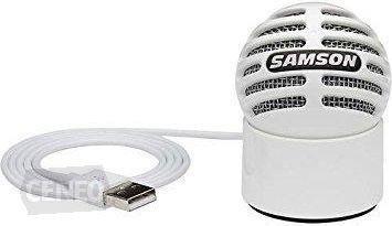 SAMSON METEORITE- mikrofon pojemnościowy USB, biały, kardioida, 16-bit, 44.1/48kH, kabel usb, pokrowiec