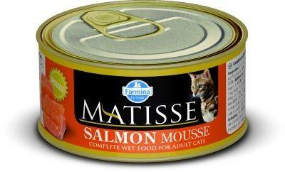 MATISSE CAT MOUSSE z łososiem PUSZKI 12X85g.
