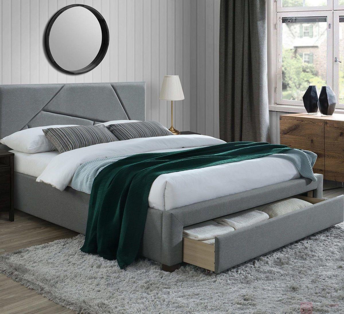 KUPON 10% NA STRONIE  Łóżko tapicerowane VALERY Halmar 160x200 cm, Szary [Wysyłka 2022-02-02]