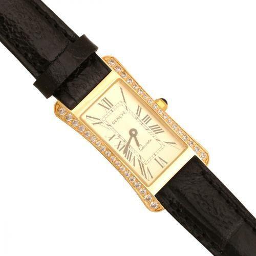 Złoty zegarek damski Na pasku Zv137